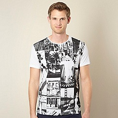 Red Herring - Black and white city collage print t-shirt