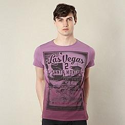 Red Herring - Purple dip dye graphic t-shirt