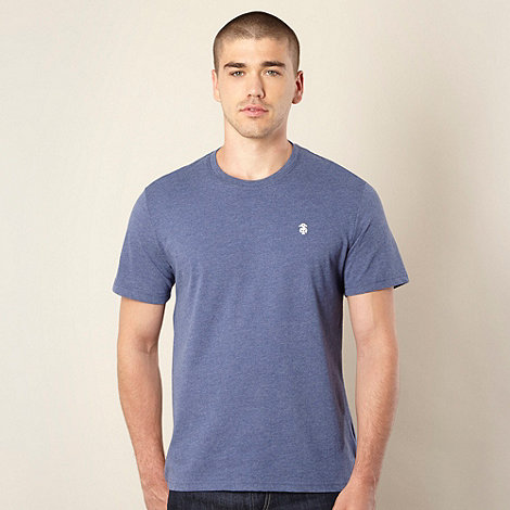 St George by Duffer - Big and tall blue marled crew neck t-shirt