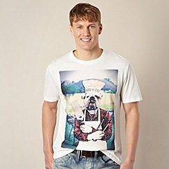 St George by Duffer - Off white BBQ dog print t-shirt