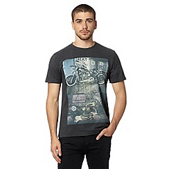 St George by Duffer - Dark grey motorbike t-shirt