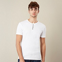 Red Herring - White ribbed button neck t-shirt