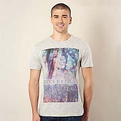 FFP - Light grey girl and Brooklyn print t-shirt