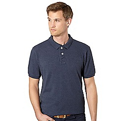 St George by Duffer - Navy plain pique polo shirt