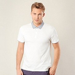 Red Herring - White dogtooth collar polo shirt