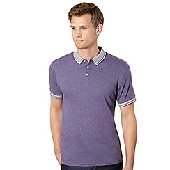 Red Herring - Purple textured collar polo shirt