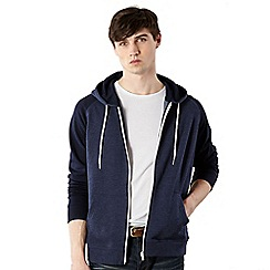 Red Herring - Navy contrast sleeve sweat hoodie