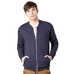 Red Herring - Navy zip through sweater