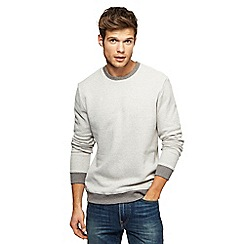 Red Herring - Light grey textured jumper