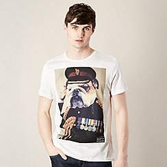 Help for Heroes - Off white bulldog veteran t-shirt