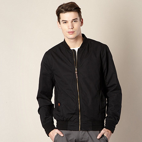 Red Herring - Black baseball style cotton jacket