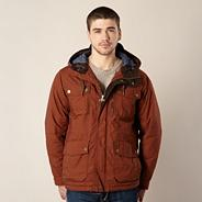 Terracotta woven hooded jacket