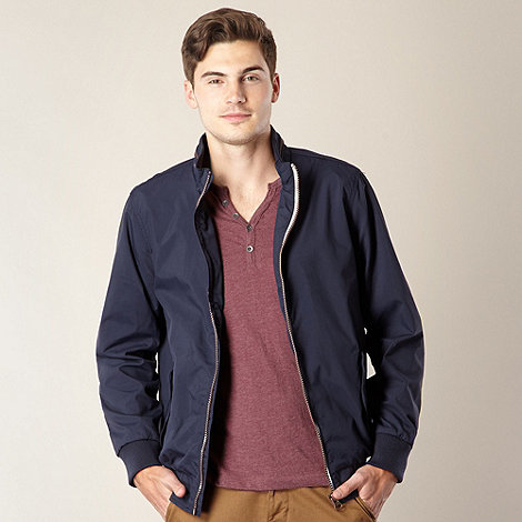 Red Herring - Navy zip through funnel neck jacket
