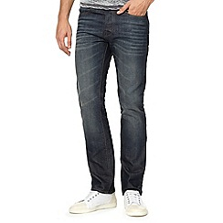 Red Herring - Big and tall blue mid wash straight leg jeans