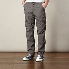 St George by Duffer - Grey twill cargo trousers