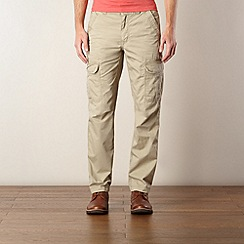 St George by Duffer - Natural twill cargo trousers