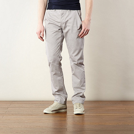 Red Herring - Light grey slim fit chinos