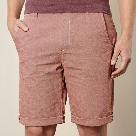Red Herring - Dark red pin dot chino shorts