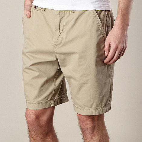 St George by Duffer - Natural washed chino shorts