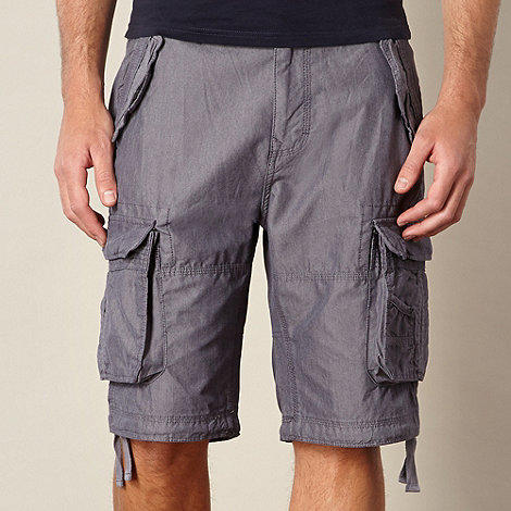 St George by Duffer - Blue chambray cargo shorts