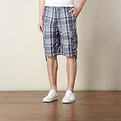 FFP - Blue checked cargo shorts