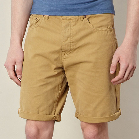 Red Herring - Tan plain canvas shorts