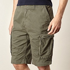 Red Herring - Khaki twill cargo shorts