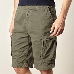 Red Herring - Khaki twill cargo shorts
