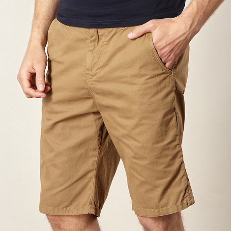 Red Herring - Tan plain twill chino sorts