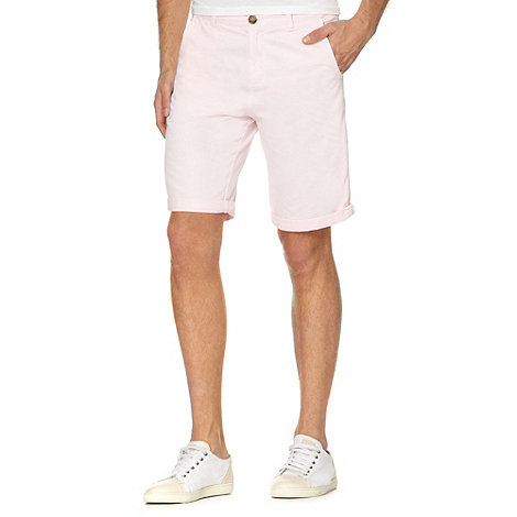 Red Herring - Light pink twill chino shorts