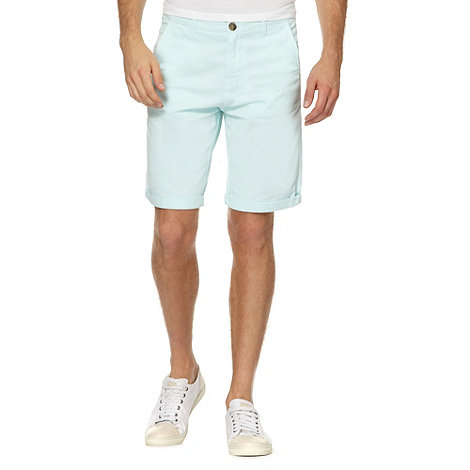 Red Herring - Light green twill chino shorts