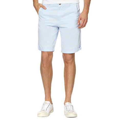 Red Herring - Light blue twill chino shorts