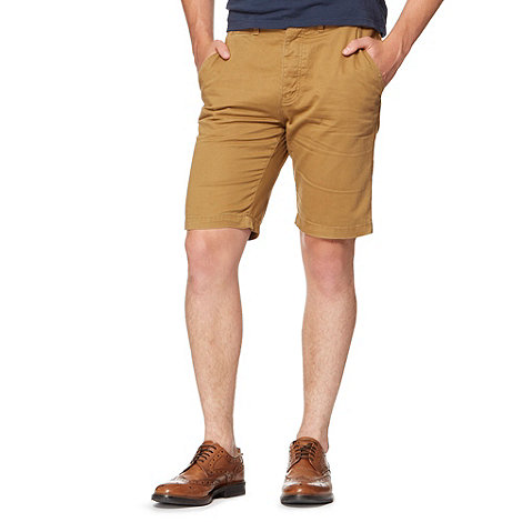 Red Herring - Dark tan chino shorts