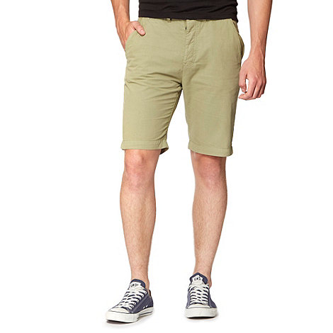 Red Herring - Olive canvas chino shorts