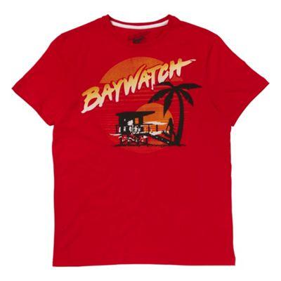Red Baywatch t-shirt