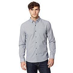 Red Herring - Navy gingham checked long sleeve shirt