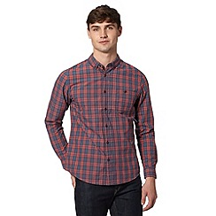 Red Herring - Red checked button down collar shirt