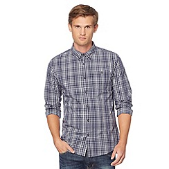 Red Herring - Navy checked button down collar shirt