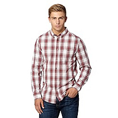 Red Herring - Red faded checked shirt