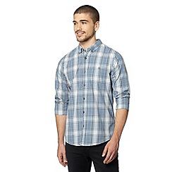 Red Herring - Light blue button down check shirt