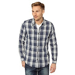 Red Herring - Blue herringbone checked shirt