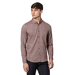 Red Herring - Dark red herringbone shirt