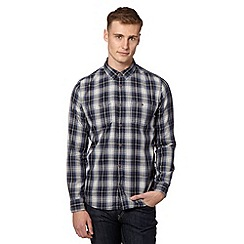 Red Herring - Navy grid checked shirt