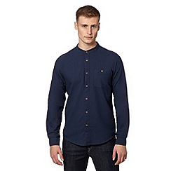 Red Herring - Navy grandad oxford shirt