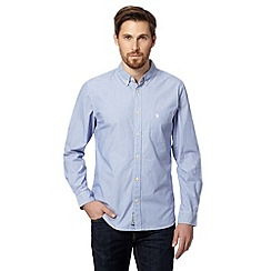 St George by Duffer - Blue fine striped shirt