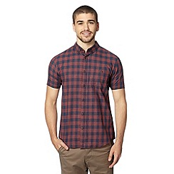Red Herring - Wine gingham check shirt