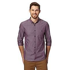Red Herring - Dark red double lines patterned shirt