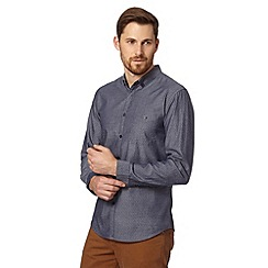 Red Herring - Navy double lines patterned shirt
