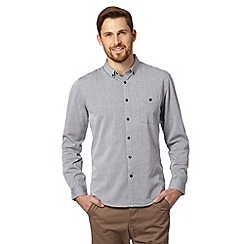 Red Herring - Light grey double lines patterned shirt