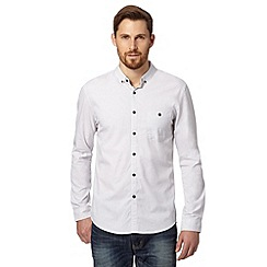 Red Herring - White micro spot shirt